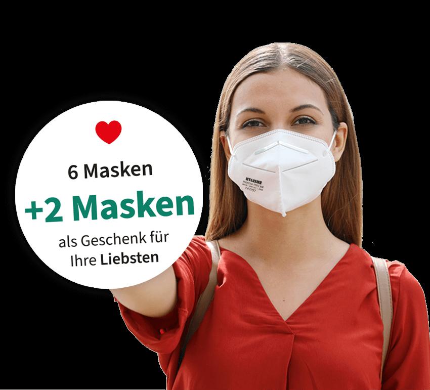 6 + 2 FFP2 Masken in der Schloss Apotheke Bruchsal